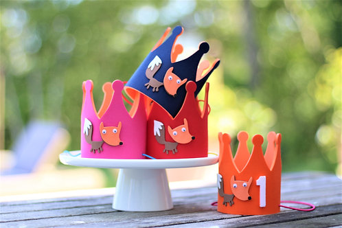 Woodland Birthday Party Hat - Fox Party
