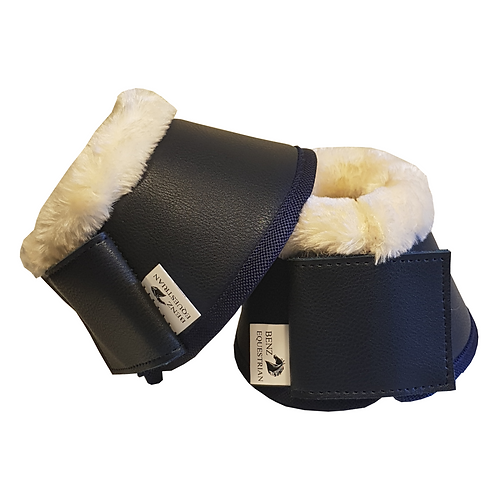 Benz Equestrian Navy Over Reaches with Faux Fur Top