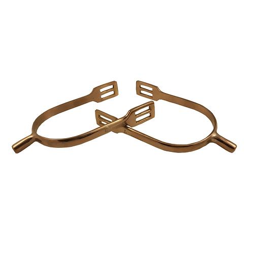 Free Rein Antique Rose Gold Curve Shank Spurs