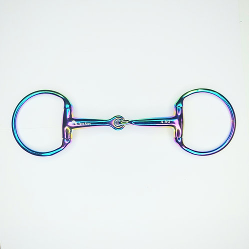 Free Rein Rainbow Eggbutt Single Jointed Snaffle Bit