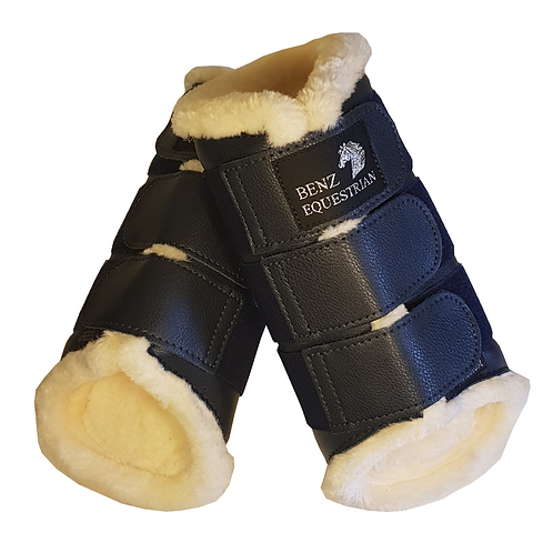 Benz Equestrian Navy Fleece Lined Brushing Boots