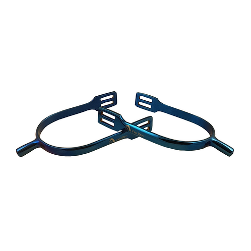 Free Rein Blue Curve Shank Spurs