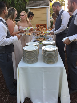 Buffet Line with Guests