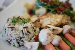 Rice Pilaf & Sauted Veggies