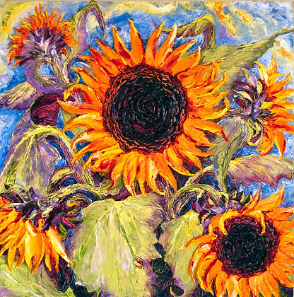 Paris' Yellow Sunflowers Print