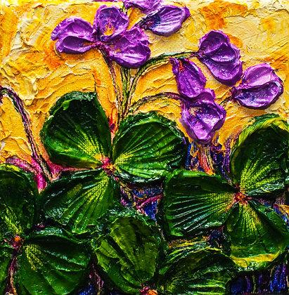 Shamrock Purple Floral Painting