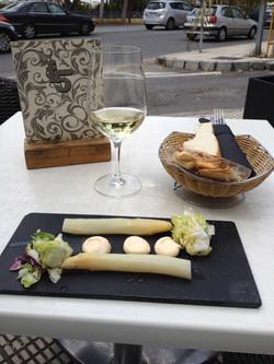 White asparagus tapas