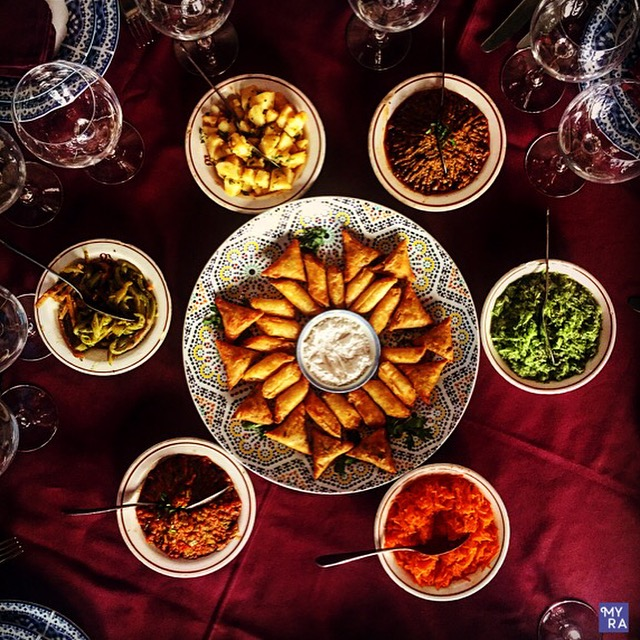 Moroccan appetizers