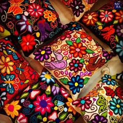Handwoven alpaca pillows