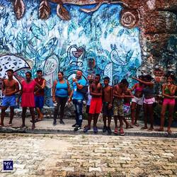 Cuban locals and murals