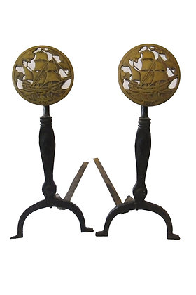 Hand wrought Iron with Brass Medallions With Ships