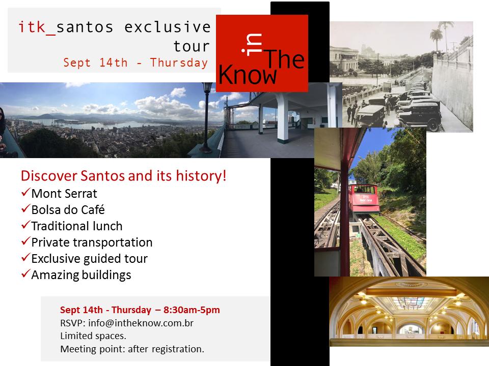itk_santos exclusive tour - Invitation!