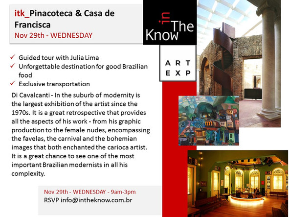 itk_Pinacoteca & lunch @ Casa de Francisca - Nov 29th - Wednesday