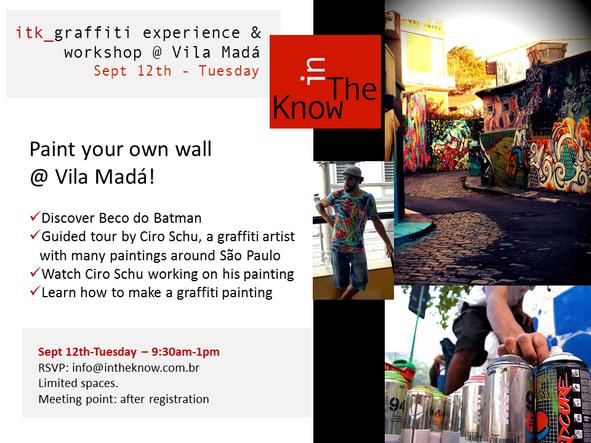itk_graffiti experience & Workshop @Vila Madá - Sept 12th_Tuesday