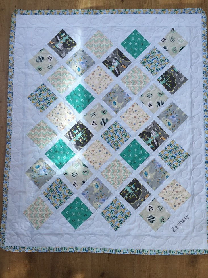baby Zachary quilting and embroidery