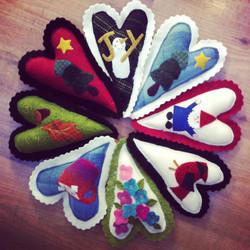 woolen hearts