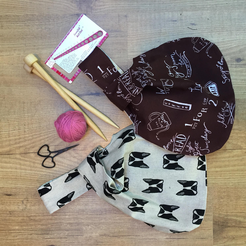 knit-sew project bag