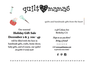 Quiltmamas Holiday Sale 2017 - Consider yourself invited!