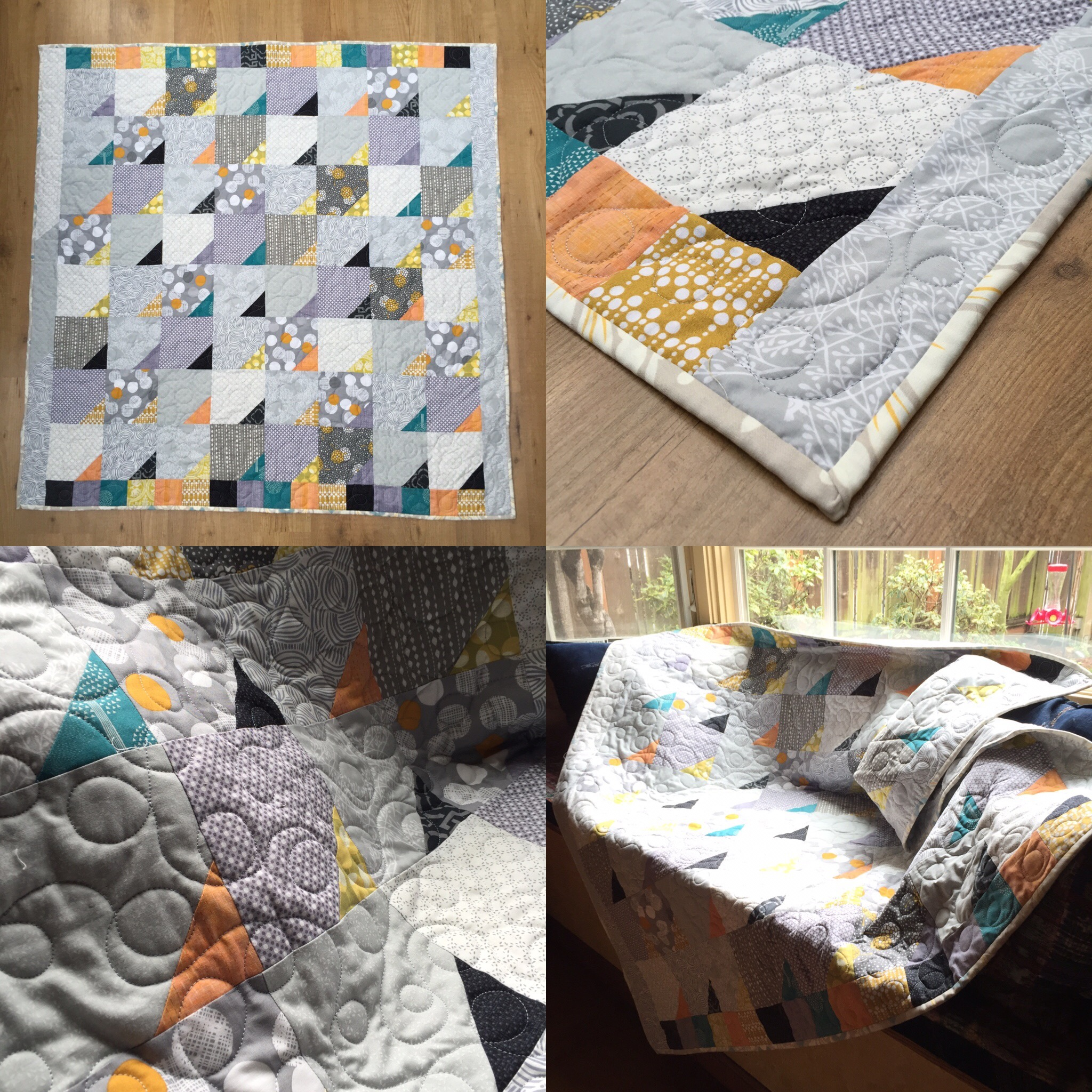 Scrappy Happy Lap Quilt