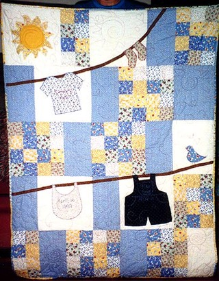 Clothes Line Baby Quilt