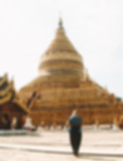MYANMAR BAGAN SHWEZIGON PAGODA TEMPLO