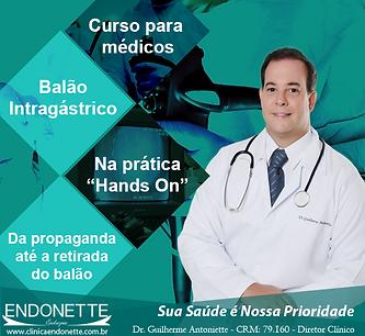 EMAGRECER - OBESIDADE - BALÃO INTRAGÁSTRICO - BARIÁTRICA - CLINICA ENDONETTE - GUILHERME A