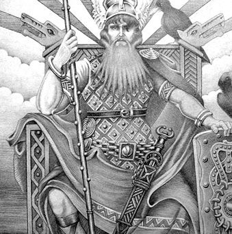 Odin, king of the Norse gods