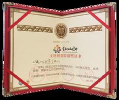 雲南文化創意週 文化創意特別獎證書