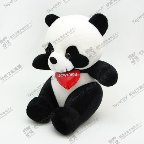Panda with Red Scarf