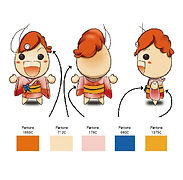 吉祥物製作過程-彩色版製作產前打樣