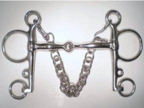 Jointed Pelham inc Curb Chain