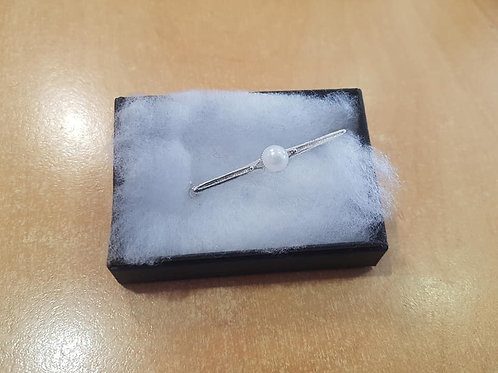 Equetech Silver, Pearl Stock Pin
