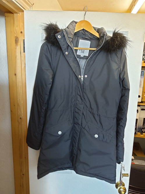 HKM zipped hooded parker coat