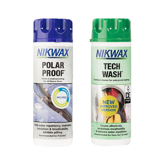 Nikwax Tec wash & Polar Proof twin pack 300ml