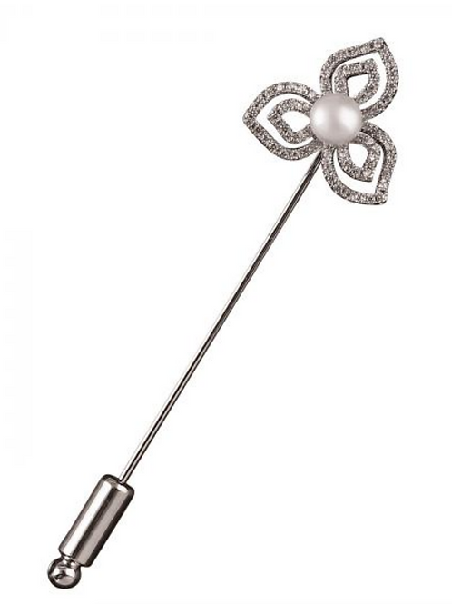 Floral Stock/Tie Pin