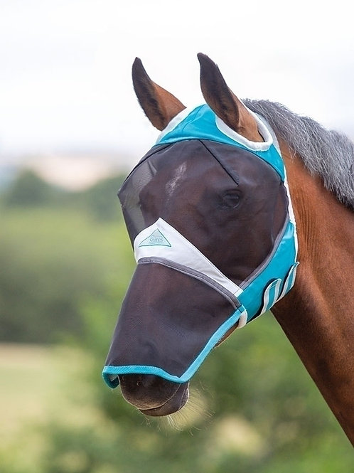 Shires Fine Mesh Fly Mask with Ear Hole and Nose