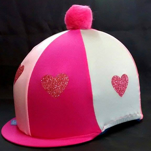 Glitter Heart Hat Silk