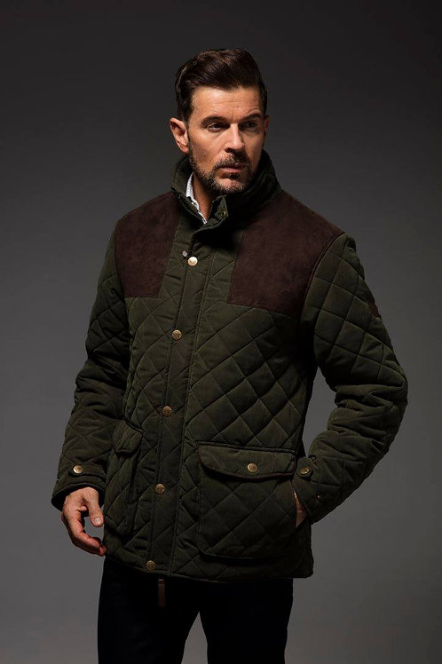Drayton Quilted Microfibre Jacket - Olive