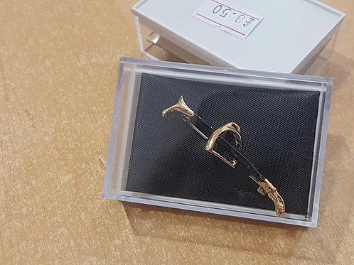 Stirrup on Black Cane Stock Pin
