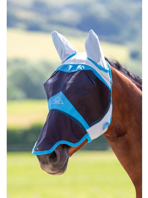 Shires Air Motion Fly Mask with Ears and Nose