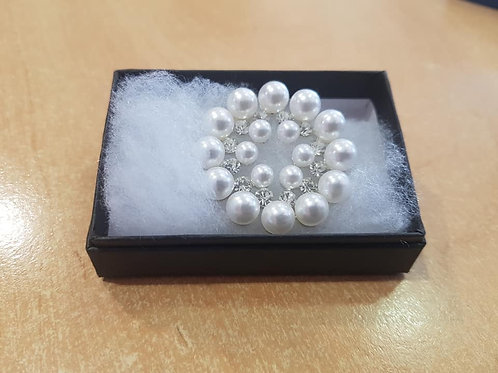 Equetech Pearl Ring Stock Pin