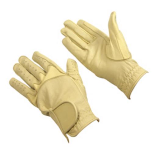 Bitz Beige Leather Gloves