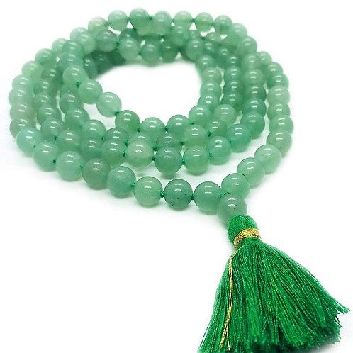 Green Aventurine Round Bead Mala