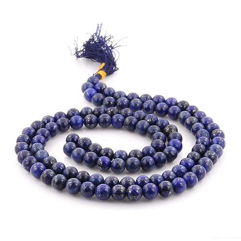 Lapis Lazuli Round Bead Mala