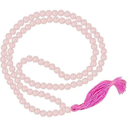 Rose Quartz Round Bead Mala