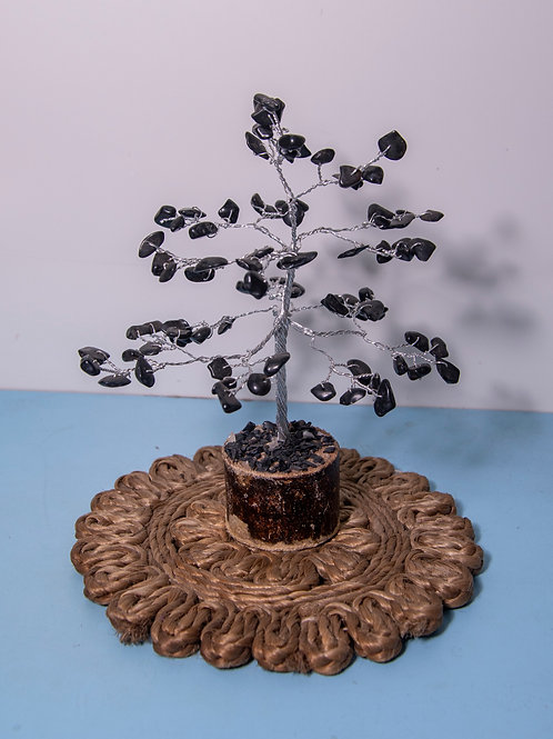 Black Agate Stone Tree
