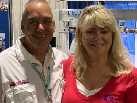 Scott & MaryAnn at the Boat show this weekend. We are ready to discuss your project with you anytime