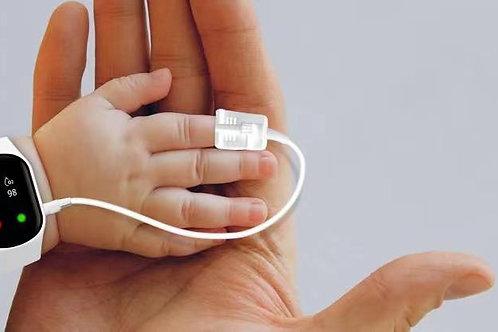 Medical grade heart rate/oxygen bracelet