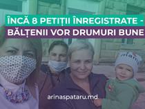 Încă 8 petiții înregistrate -Bălțenii vor drumuri bune
