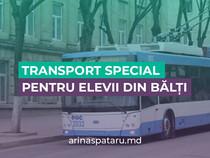 Transport special pentru elevii din Bălți